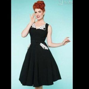 Bettie Page by Tatyana Pinup Polka Dot Dress